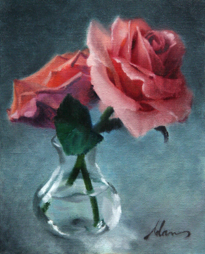 ML Adams-Getty Roses-10x8-Oil on Linen 700px