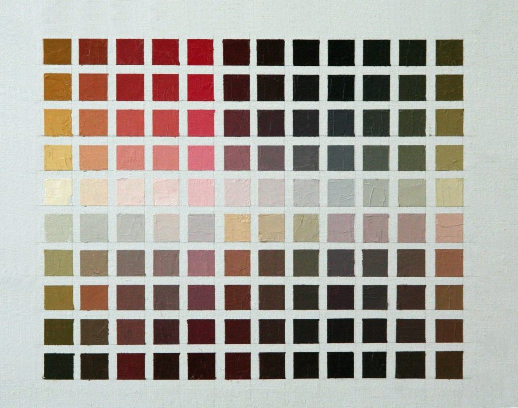 Zorn Limited Palette Exercise Grid