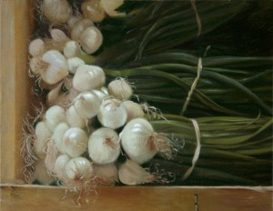 MLAdams White Onions 12x16 Oil and Canvas-1000px