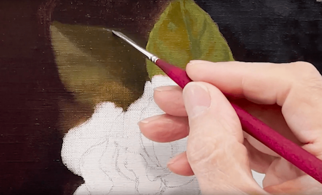 Oil Painting Demo Gardenia with Chardin